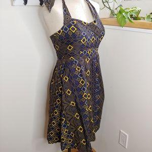 Edme & Esyllte Rhythmic Repetition Halter Dress